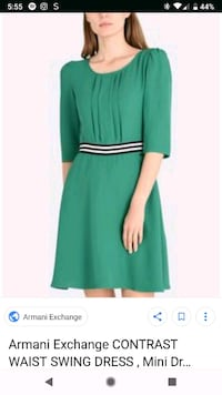 Women's green long-sleeved dress Fairfax, 22030