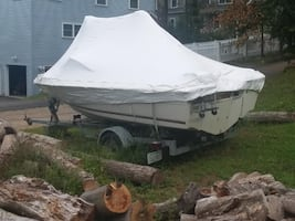 1987 Marquis 16 ft boatTRAILER INCLUDED