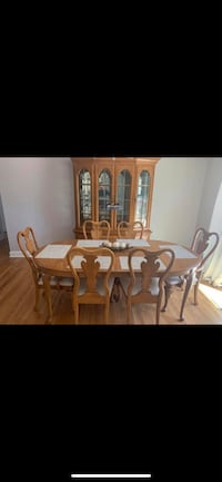 Dining Room Table and Hutch , 07460