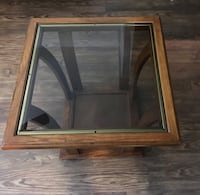 Wooden Glass end table  Dallas, 75254