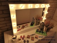 Vanity mirror perfect condition - white  Alexandria