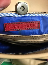 Black and brown Tommy Hilfiger leather and canvas bag Toronto, M1S 2J9