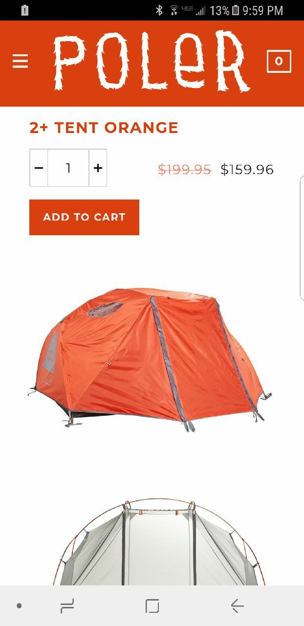 sc 1 st  Letgo & Used Outdoor tent 2 person Orange Poler for sale in Sarasota - letgo
