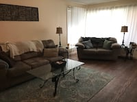 Living room couches, end tables and pillows for sale!!