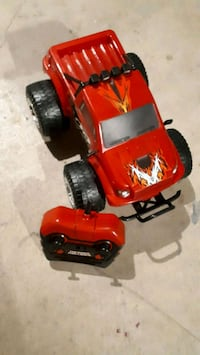 Toy truck with the control
