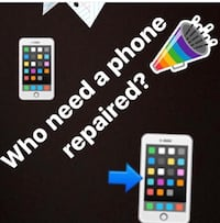 Phone screen repair I fix all broken phones iphone 4,4s,5,5c,5s,6,6+,6s,6sq+,7,7+,8,8+,x and all samsung phones repairs Bowie