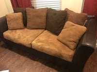 brown and black fabric loveseat Metairie, 70002