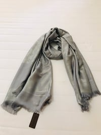 Gorgeous Louis Vuitton scarf in grey  Edmonton