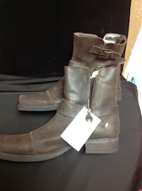 pair of black leather boots Las Vegas, 89104