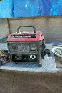 red and black portable generator Stanton, 90680