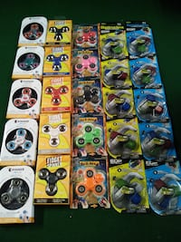assorted color fidget spinner lot with lights Montreal East