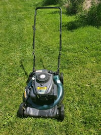Yard man push lawnmower