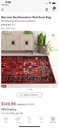 "Boho rug from wayfair 6'7""x9' Norfolk, 23518"