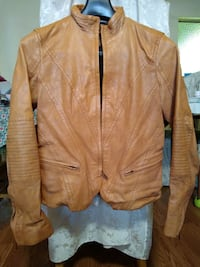 Banana Republic brown leather zip-up jacket Marina, 93933