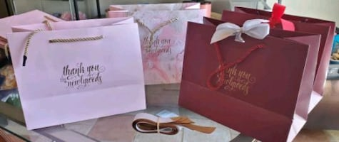 Wedding gifts bags with ribbons (15 total)