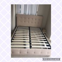 white and brown wooden bed frame Arlington, 22201