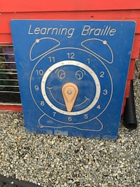blue Learning Braille analog clock 邓肯, V9L