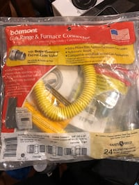 Dormont Gas range and furnace connector