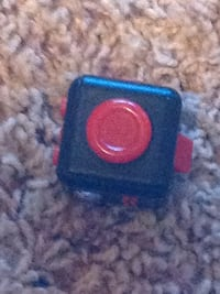 Black and red cube fidget spinner