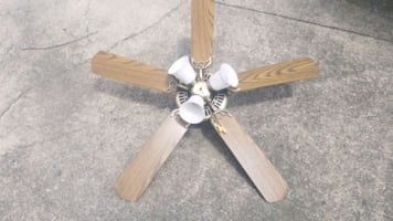 Lighted Ceiling Fan with Reversible Blades