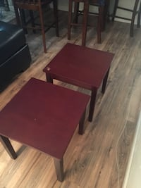 2 cherry wood end tables good condition! (There is a Knick of paint missing on one of the top corners) but other than that it's fine. Can be used for a great DIY project as well. Beaumont, 77706