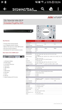 Hikvision DS-7604NI-SE/P 4-Channel Network Video Recorder NVR (POE) Toronto, M1W