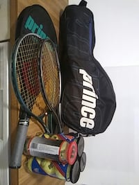 3 Tennis Rackets with bag and balls. Norfolk, 23503