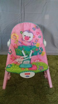 baby's pink and green Fisher-Price bouncer Gainesville, 20155