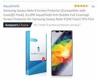 Samsung galaxy note 9 plus screen protectors! Westwood, 07675