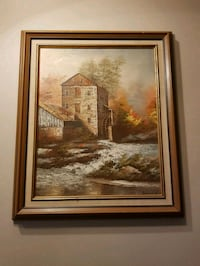 brown wooden framed painting of house Calgary, T2K 5C4