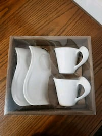 Pkg of 2 espresso cups with saucer.  Vaughan, L6A 2G4