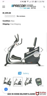 black and gray elliptical trainer screenshot Dayton, 41074