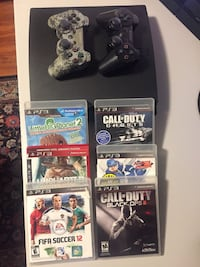 PlayStation 3 Slim 160GB, 6 games, 2 controllers (No Cables)