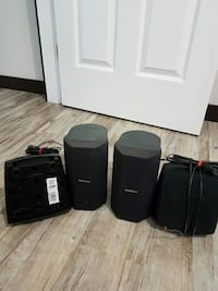 black portable speaker set West Kelowna, V4T 2P6