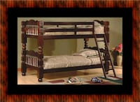 Twin wooden bunkbed frame Fairfax