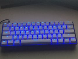 60% gaming keyboard with blue switches