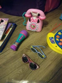 Minnie Mouse phone (works), S&S mic, sunglasses Brunswick