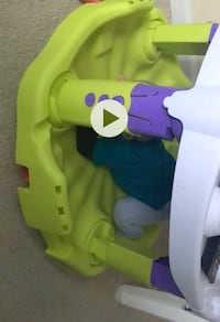 baby's green and purple booster seat Sterling, 20166