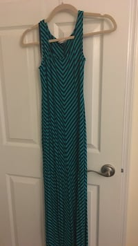 Teal and black scoop neck sleeveless maxi dress Westminster, 21157