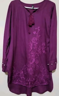 purple floral scoop neck long sleeve dress Brampton, L7A 0B2
