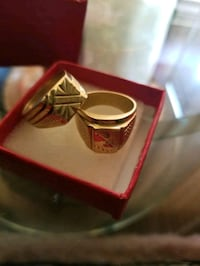 Rings gold plate