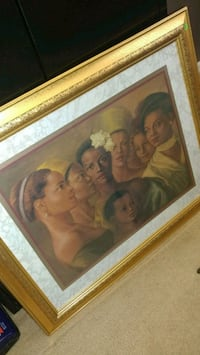 painting of people with brown wooden frame Hiram, 30141