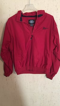 Charles River Apparel red half zip jacket sz L