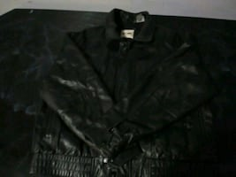 Slightly used leather hipster coat