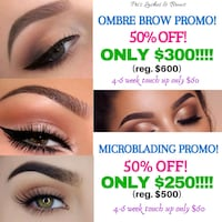 BROW PROMOTION! 50% OFF! Toronto