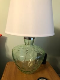 white and green floral table lamp Brick, 08723