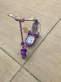 toddler's purple and yellow Disney Princess themed kick scooter Lynwood, 60411