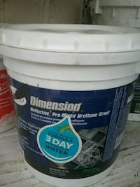 Dimension reflective pre-mixed urethane grout