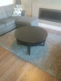 round black wooden coffee table Edmonton, T6X 1A2