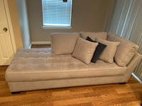 White fabric 2-seat sofa Upper Marlboro, 20772